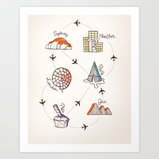 Sweet Travel Art Print