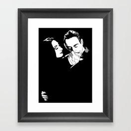 Gomez & Morticia Framed Art Print