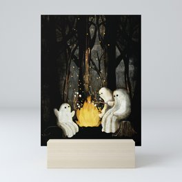 Marshmallows and ghost stories Mini Art Print