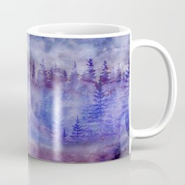 Misty Pine Forest Coffee Mug