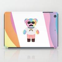 bondage iPad Cases featuring Punk Rainbow Bondage Bear Full by YOSH FRIDAY