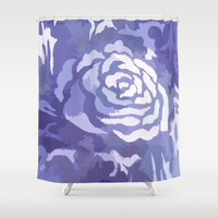 camouflage Shower Curtains featuring camouflage by Tanya Pligina