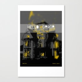 HelloHorror Issue 3 Cover - Haunted House Canvas Print