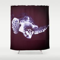 sea turtle Shower Curtains featuring Sea Turtle by DistinctyDesign