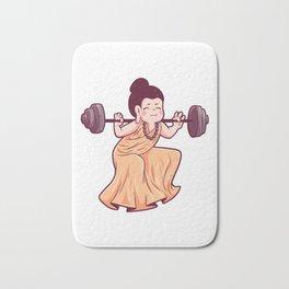Gym Buddha barbell Sports faith Bath Mat