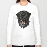 panther Long Sleeve T-shirts featuring Panther by Tish