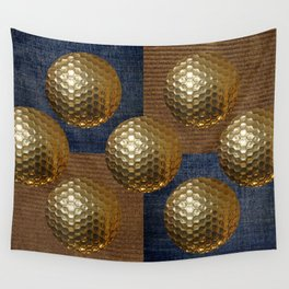 GOLD GOLF Wall Tapestry