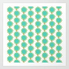 Flower Stripes Art Print