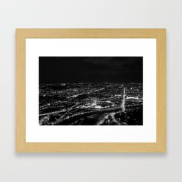 View of East Melbourne and surrounds from the Eureka Skydeck Framed Art Print