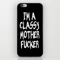 classy iPhone & iPod Skins featuring Classy by Wanker & Wanker