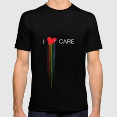 I Care X-LARGE Black Mens Fitted Tee