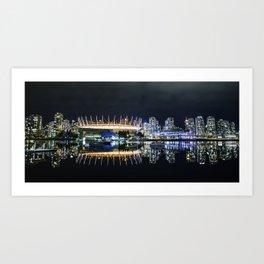 Vancouver Skylines Art Print