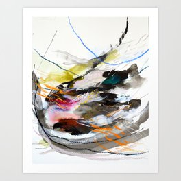 Day 56: Move gently with nature and things will fall into their rightful place. Art Print