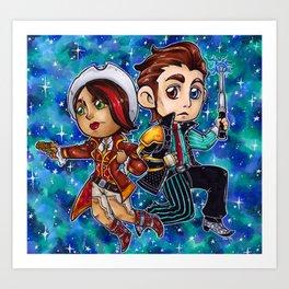 Rhys and Fiona Art Print