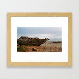 Abandoned Boat Framed Art Print