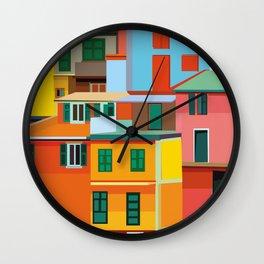 Manarola, Cinque Terre, Italy Wall Clock