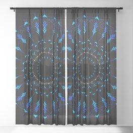 Native American Mandala Sheer Curtain