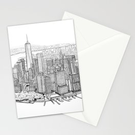 New York City, Lower Manhattan Stationery Cards