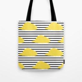 Yellow & Black Stripes Digital Design Tote Bag