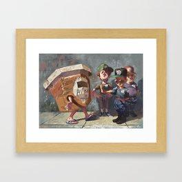 Bar Butter Game Framed Art Print
