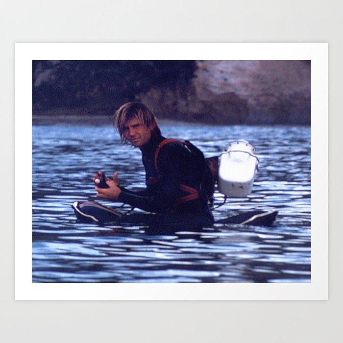 George Greenough prepares to film waves Art Print
