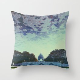 Reflecting On the Capital Throw Pillow