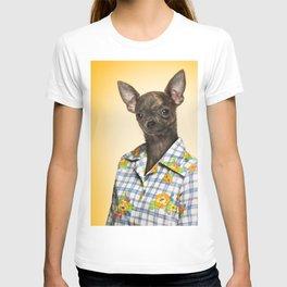 Chihuahua wearing a floral shirt T-shirt