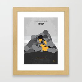 No1035 My Roma minimal movie poster Framed Art Print