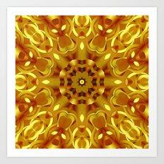 kaleidoscope Flower G68 Art Print
