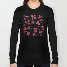 Adventure is Calling – Red & Black Palette Long Sleeve T-shirt