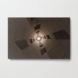 Chambord Castle - Stairs Metal Print
