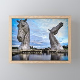Falkirk Kelpies Framed Mini Art Print