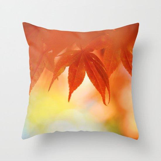 Autumnal tints Throw Pillow