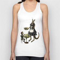 cafe Tank Tops featuring Kangaroo cafe by Anna Shell