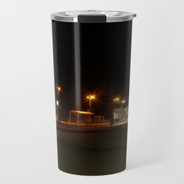 Train and Bus stop in Germany by night Travel Mug