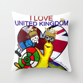 Monsieur Jac & Lily love UK  Throw Pillow