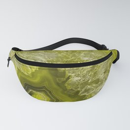 Green pantone agate mineral gem stone - Beautiful backdrop Fanny Pack