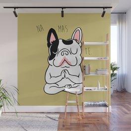 Namaste French Bulldog Wall Mural