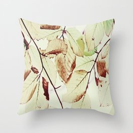 Leaves in October Throw Pillow