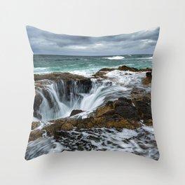 Picture USA Thors Well, Cape Perpetua, Oregon Coast, Oregon, Pacific Ocean, Ocean Nature Waves Stones stone Throw Pillow