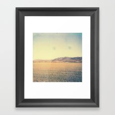 Mountain Range 2 Polaroid Framed Art Print
