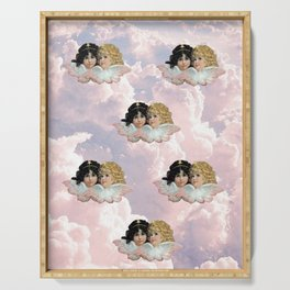 Pink Cloud Angels Serving Tray