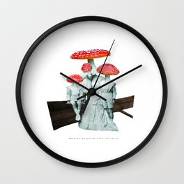 amanita muscaria with children Wall Clock