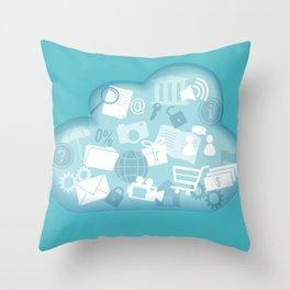 cloud technology Throw Pillow
