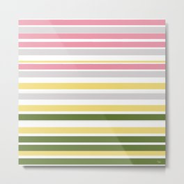 Calm Layers of Pastels Metal Print