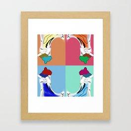 traditional pop art Framed Art Print
