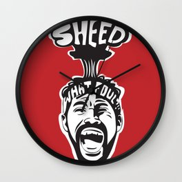 'Sheed Protest Wall Clock