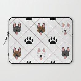 3 German Shepherd Colors Paw Print Pattern Laptop Sleeve