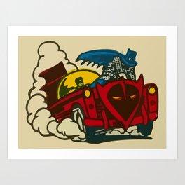 Bat-Hero Tattoo 1966 Art Print