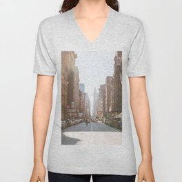 New York City Streets Unisex V-Neck
